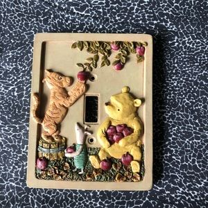 Classic Pooh Wall Light Switch Cover